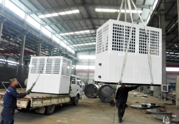 空气源热泵发货案例